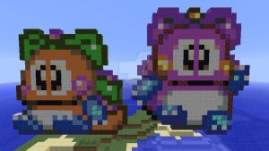 Kululun and Cororon redone in Minecraft by superslinger2007