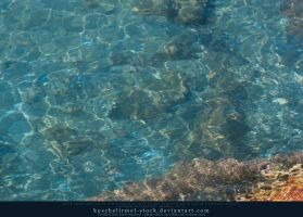 Water with light reflections 02 by kuschelirmel-stock