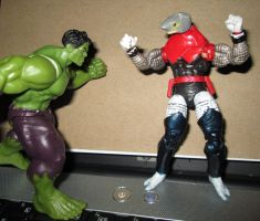 Hulk vs Requin by Skaramine
