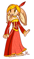 Anthro Bunny Adoptable Girl by Lysnat