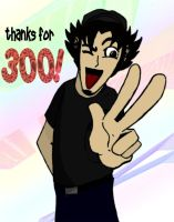 Thanks for 300 hits by crazzehtimmeh