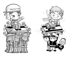 Israel and Palestine Hetalia by JHUCartoons
