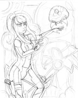 Samus Rough Pencils by ibroussardart