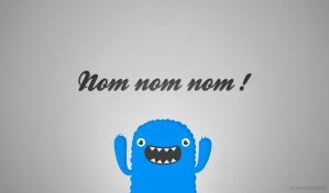 Mr. Om Nom Nom Nom Free Wallpapers by mrsbadbugs