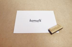 Stamp with a wood engraved handle by Laserlab21