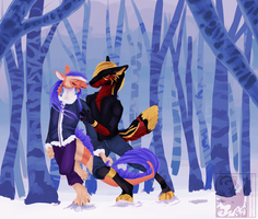 Walking in a Winter Wonderland by Stitchy-Face