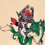 Midna and Link colored by HyruleUnicorn