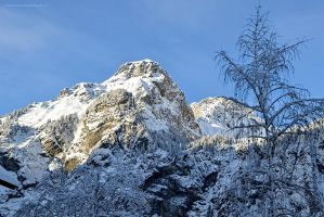 Bunderspitz from the Hotel Victoria, Kandersteg by artamusica