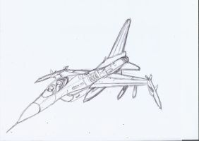 F-16 sketch by fighterace2688