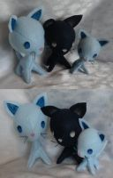 Commission, Plushie Kitty Family for Ankoku-Sensei by ThePlushieLady