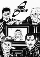 Red Dwarf - series 4 crew by mikedaws