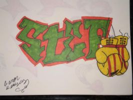 graffiti name  drawing (stef) by kemsley