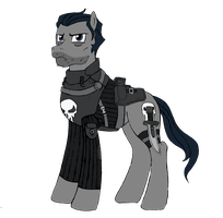 Punishment and Laughter - The Punisher (Pony) by edCOM02