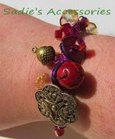 Fall is in the Air Wire-Wrapped Bangle Bracelet II by SadiesAccessories
