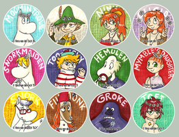 Moomin Stickers - Batch 2 by Genolover