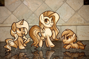 Laser Cut Gift for GoldenDust - Art by Left2fail by Earth-Pony