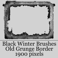 Black Winter - Large Old Grunge Border by blackxwinter