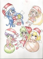 Christmas tags by StarClipse
