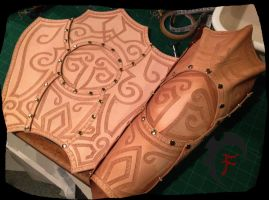 Viking/ barbarian leg armor WIP by Feral-Workshop