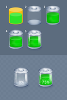 Battery icon - making of by upiir