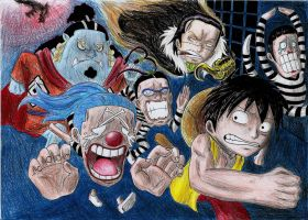 Impel Down - One Piece by Gbtz007