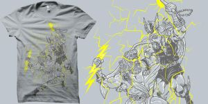 godly battle t-shirt by biotwist