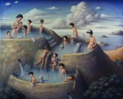 Terraced hot spring 2 by perodog