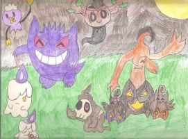 Ghostly Gathering by SkunkyRainbow270