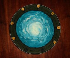 Stargate cake by Paintsmudger