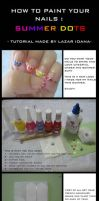 Tutorial: How to paint your nails - Summer Dots by DarkUmah
