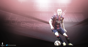 Andres Iniesta Wallpaper by bluezest1997