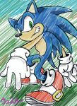 Sonic The Hedgehog doodle by Celestial-Biohazard