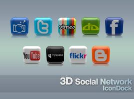 3D SOCIAL NETWORK ICONDOCK by yiyo-marcelo
