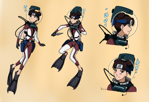 Tenten LAMA Scuba - Color Version by The-Sakura-Samurai