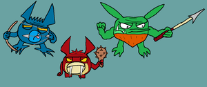 Primitive skylanders by Kriztian-Draws
