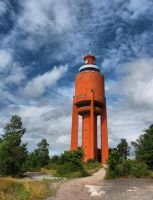 Red Water Tower by Pajunen