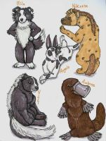 Plush Characters 2 by TigrisTheLynx