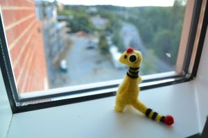 Needle Felted Ampharos edit by feltieflaffy