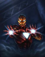 iron man colored by vic55b