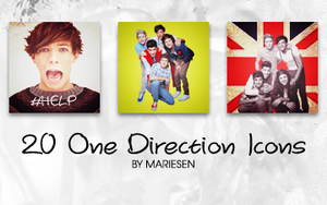 Icons: One Direction set1 by Mariesen
