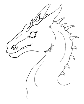 Pern Dragon Bust Template by SilverDragalos