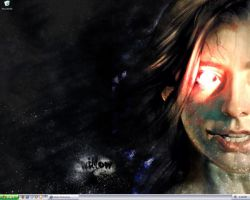 Creepy Willow Wallpaper by dean-star