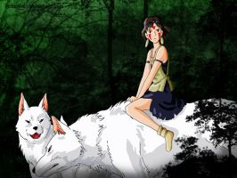 Princess Mononoke by rebenke