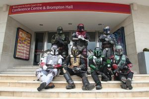 Mandalorians on a break by Benny2191