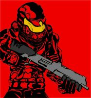 Red Master Chief by TalesofZ