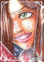 ACEO No.014- Off with her Head by DevilTrish
