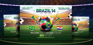 Worldcup Brazil 2014 2 Flyers and FB Covers by LouisTwelve-Design