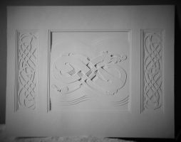 Norse design paper-cutting by one-rook