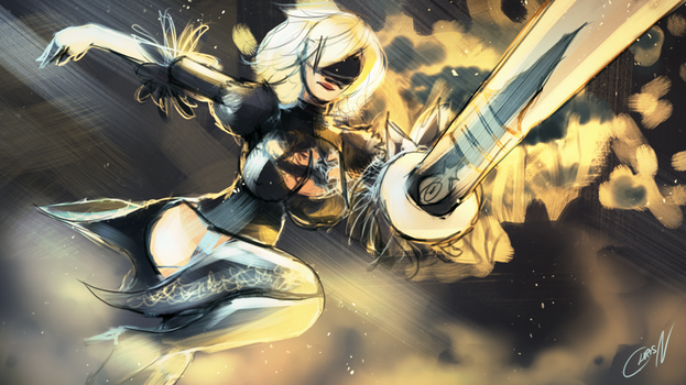 2B - Slasher by ChrisN-Art