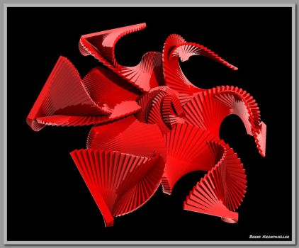 Sinwave Sculpture with JS StructureSynth tutorial by kronpano
